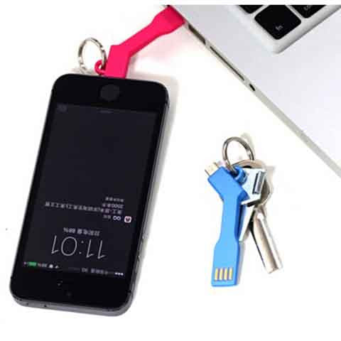 Android Samsung micro USB Keychain data cable - CELLRIZON