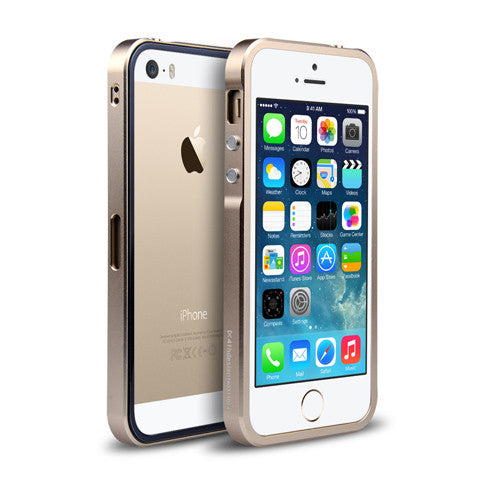 Metal Case Aluminum Frame + Clear PC Back Cover For iphone 5s - CELLRIZON