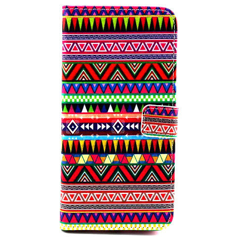 Tribe Pattern Wallet Leather Case for iPhone 6/6 Plus - CELLRIZON  - 1