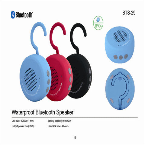 IPX4 Waterproof Speaker Bluetooth Beach Pool Shower Sound Box With Mix Handsfree FM Radio - CELLRIZON