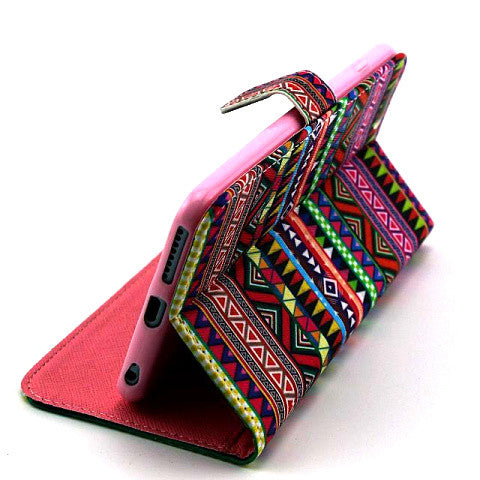 Tribe Pattern Wallet Leather Case for iPhone 6/6 Plus - CELLRIZON  - 3