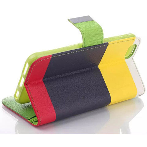 Rainbow Stand Leather Case for iPhone 6 & 6S - CELLRIZON