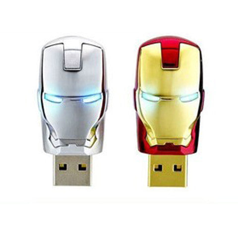 Iron Man Metal USB Flash Drive For 2/4/8/16/32/64GB - CELLRIZON