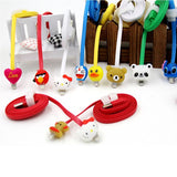 1 Meter Cartoon LED iPhone Charger Cable - Teddy Bear - CELLRIZON  - 3