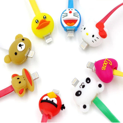 1 Meter Cartoon LED iPhone Charger Cable - Teddy Bear - CELLRIZON  - 2