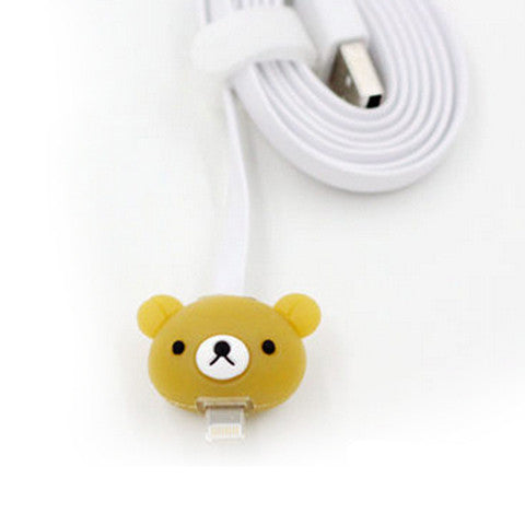 1 Meter Cartoon LED iPhone Charger Cable - Teddy Bear - CELLRIZON  - 1