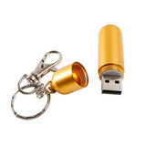 Metal lipstick cylindrical usb flash drive 2gb/4gb/8gb/16gb/32gb/64gb - CELLRIZON  - 7