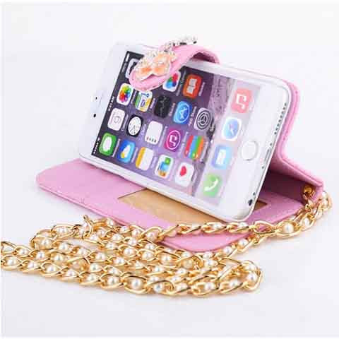 iPhone 6 Plus Bling Camellia PU Case - CELLRIZON