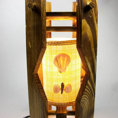 10W Personalized Antique Wooden Table Lamp - EU PLUG - CELLRIZON