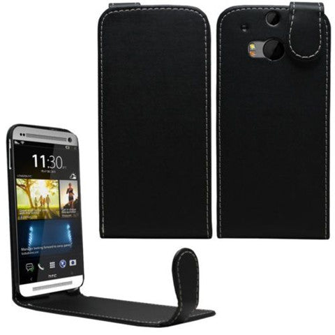 Leather Flip Case Cover for HTC One M8 - CELLRIZON