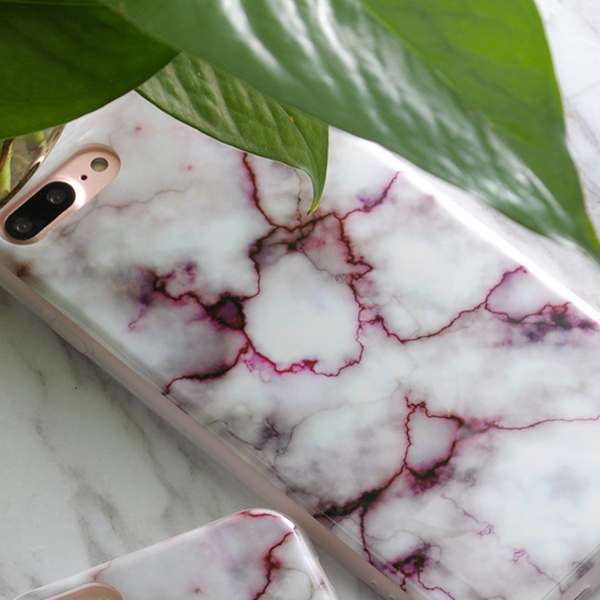 Marble Stone Silicone Case For iPhone