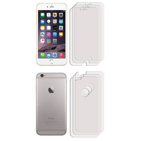 "FRONT + BACK Clear LCD Screen Protector For Apple iPhone 6 (4.7"") - CELLRIZON"