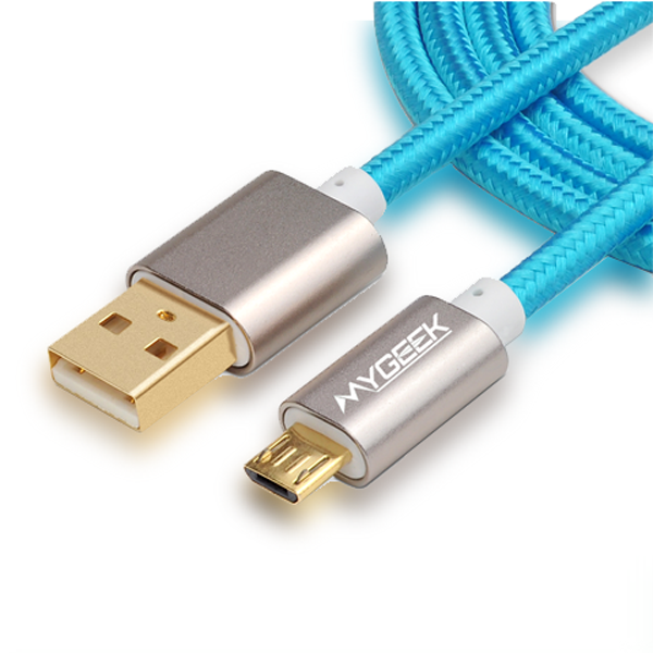 ClearanceFast Charge 4mm Nylon Micro USB Cable For Android Phones - In Various Lengths