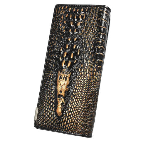 3D CROCODILE GRAIN WOMEN LONG WALLET - CELLRIZON