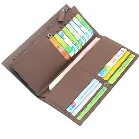 First Class imitation PU Leather Long Male Wallets - CELLRIZON