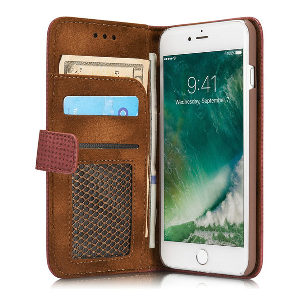 Retro Mesh Holder Card Holder  Case For IPhone 7, Plus - CELLRIZON  - 1