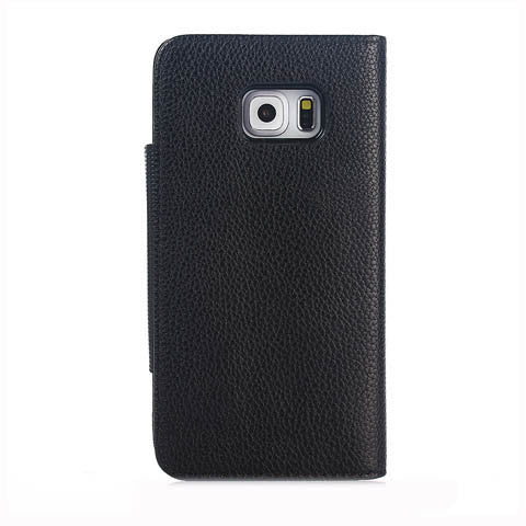 Lychee PU Leather Wallet Stand Phone Case for Samsung S6 Edge Plus - CELLRIZON