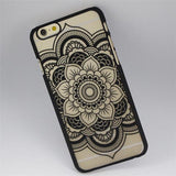 Floral Henna Paisley Mandala Palace Flower Phone Cases Cover For iPhone 5s/5SE - CELLRIZON