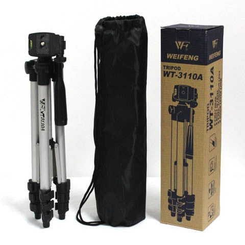 WT3110A Tripod Aluminum With 3-Way Universal Camera Tripod - CELLRIZON  - 2