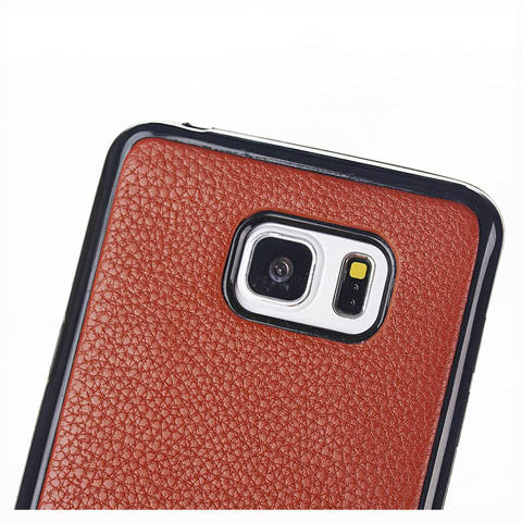 Lychee PU Leather Wallet Stand Phone Case for Samsung Galaxy Note 5 - CELLRIZON