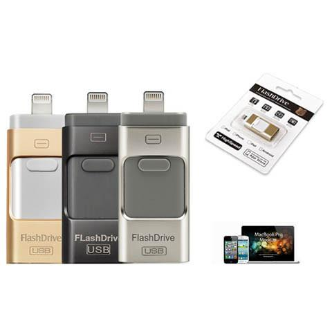 OTG 3-in-1 Apple Mobile USB Flash Drive in 16GB/32GB/64GB - CELLRIZON  - 1