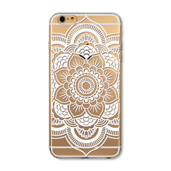 White Flower Clear Case Cover For Apple iPhone 6 4.7inch