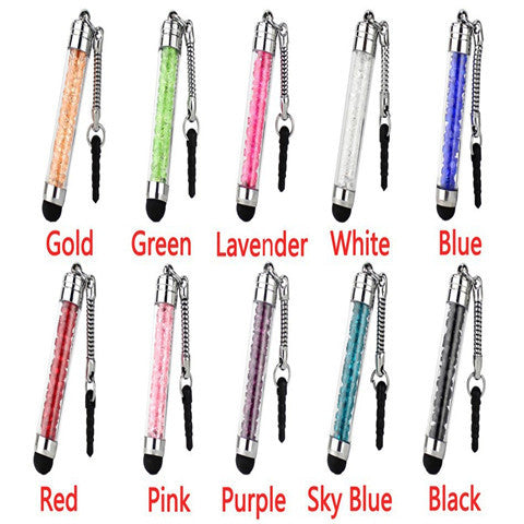 10pcs Colorful Diamonds Crystal Stylus Pen - CELLRIZON