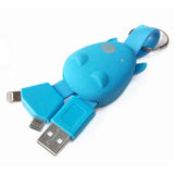 Portable Cartoon Hippo Android charging cable - CELLRIZON