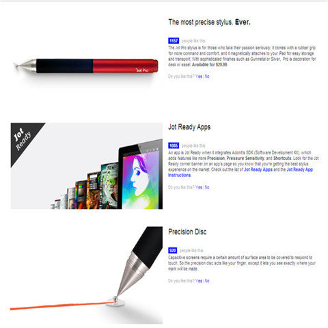 Jot Pro Fine Point Capacitive Touch Stylus Pen - CELLRIZON