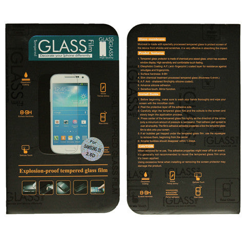 9H Anti Scratch Tempered Glass Screen Protector Guard Film For Samsung Galaxy S5 - CELLRIZON