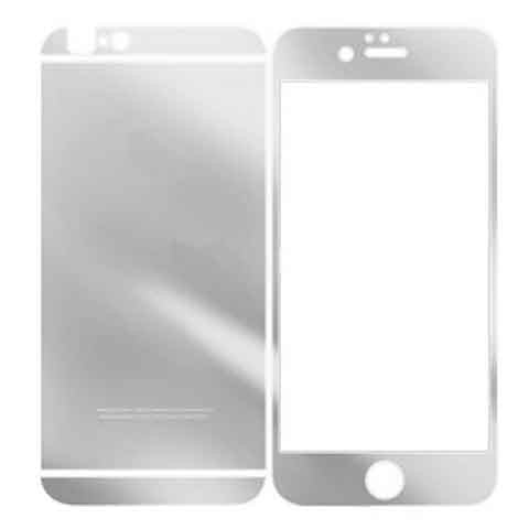 Iphone 6 Anti Scratches Front Screen & Back Tempered Glass Screen Protector Silver - CELLRIZON