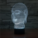 Buddha 7 Color Changing 3D Novelty LED Lamp - CELLRIZON  - 2