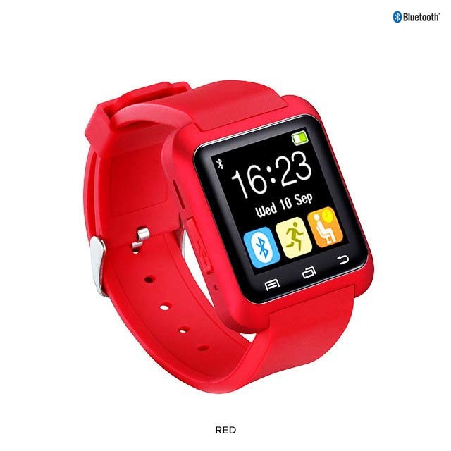 "Bluetooth 4.0 Silicone Smart Watch with 1.26"" Touchscreen for iOS & Android - Assorted Colors"