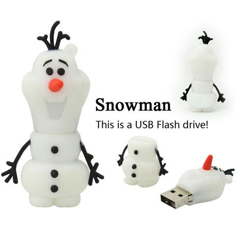 Snow Man USB Flash Drive 2gb/4gb/8gb/16gb/32gb/64gb - CELLRIZON