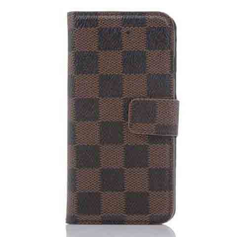 PU Leather Plaid Wallet Case For iPhone 6 - CELLRIZON