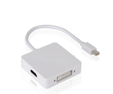 Mini DP Display Port Thunderbolt a DVI / VGA / HDMI adaptador convertidor 3 en 1 for Apple iMac Mac Mini Pro libro aire - CELLRIZON