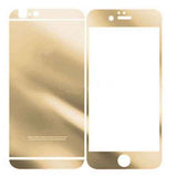 Iphone 6 plus 5.5inch Anti Scratches Mirror Front & Back Tempered Glass Screen Protector Gold - CELLRIZON