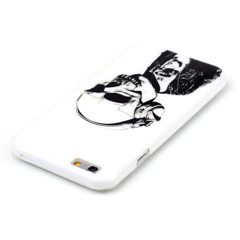 Headphones Skull hard case for iphone 6/6s/6 plus 5.5 inch - CELLRIZON