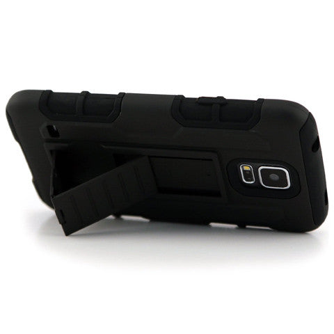 Armor Back Cover with Belt Clip for Samsung Galaxy S5 - CELLRIZON