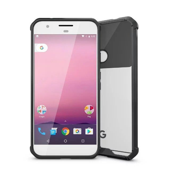 Google Pixel & Pixel XL Super Shield Transparent Back Cover Case-Black - CELLRIZON  - 3
