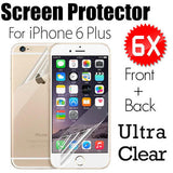 6X FRONT & BACK Clear HD Screen Protector FOR iPhone 6 PLUS - CELLRIZON