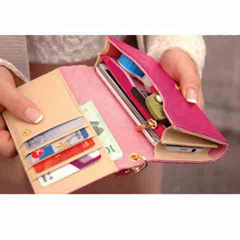 WM PU Leather Wallet Purse Phone Case - CELLRIZON