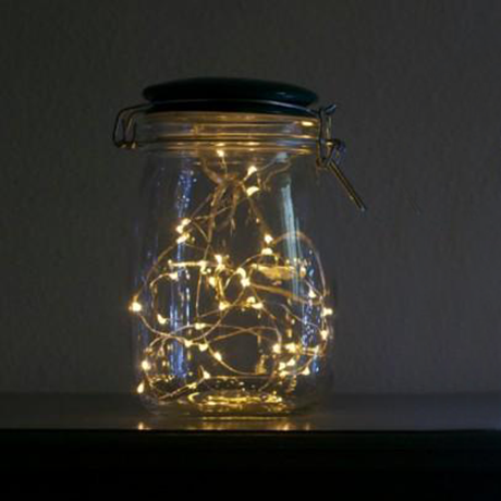 Luminescent Firefly Glass Jar