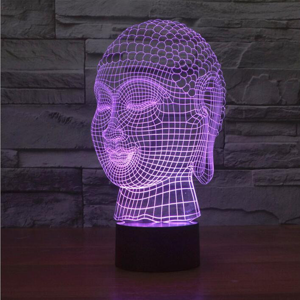 Buddha 7 Color Changing 3D Novelty LED Lamp - CELLRIZON  - 3