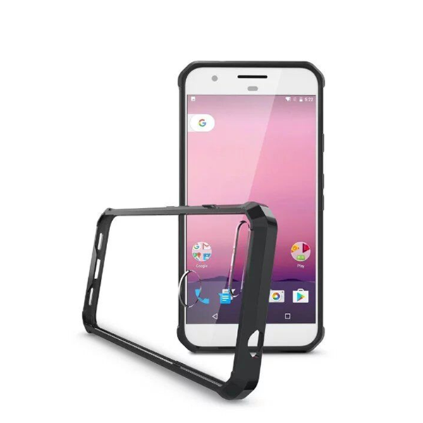 Google Pixel & Pixel XL Super Shield Transparent Back Cover Case-Black - CELLRIZON  - 4