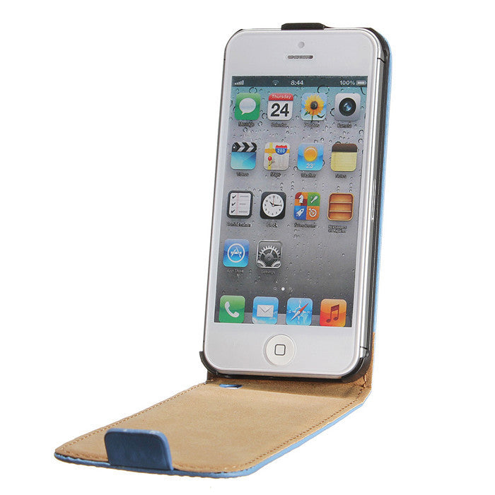 Magnetic Flip Leather PU iPhone 5 Case - CELLRIZON