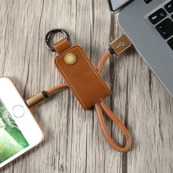 Clearance Genuine Leather Key Ring Holder & Lightning/USB Charging Cable