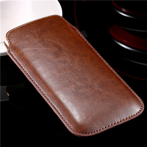 Leather Pouch Case for iPhone 6 Plus - CELLRIZON