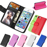PU Leather Wallet Case for iPhone 5 5S - CELLRIZON