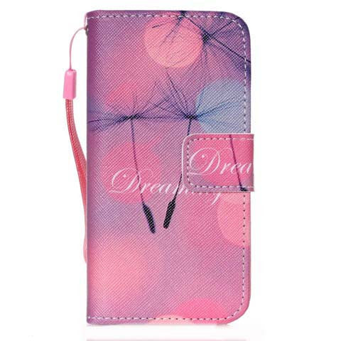 Pink Dandelion PU Flip Stand Wallet Case For iPhone 5s - CELLRIZON